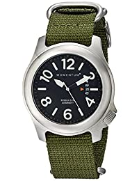 Momentum by St. Moritz Men's Steelix Black/Green Watch
