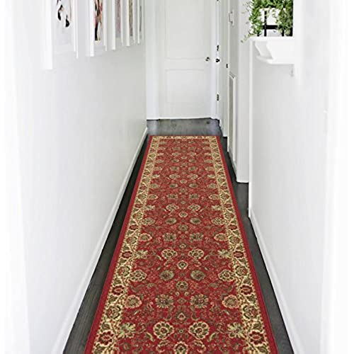 Ottomanson Traditional Floral Design Dark Red 2 Ft X 7 Ft: Persian Rug Runner: Amazon.com