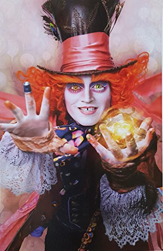 (Alice in Wonderland Johnny Depp as The Mad Hatter 11 x 17)