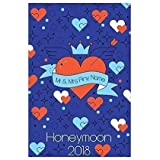 "58 x 39/"" Personalised Blue Hearts Any Name Script Font Microfibre Beach Towel"