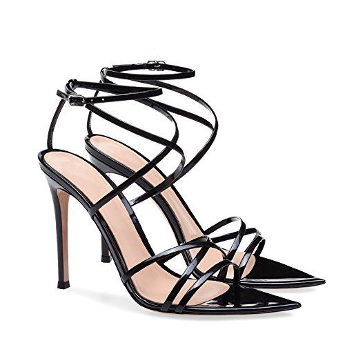 XUE Women's Shoes Synthetic Leather Spring/Summer Heels Stiletto Heel/Platform Peep Toe Crystal/Wedding/Party & Evening Dress Formal Business Work Wedding (Color : A, Size : 41) B