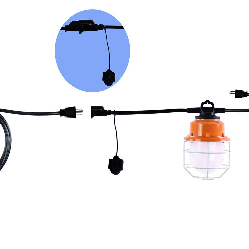 Sonmer 100W 5LED Temporary Construction Hanging Work String Lamp, Fixture 5700K Daylight 10400Lm by Sonmer (Image #7)