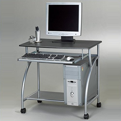 Mayline 947ANT SOHO Mobile Argo Personal Computer Workstation, Anthracite Tf/Metallic Gray Frame