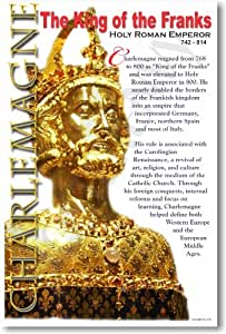 Charlemagne - King of the Franks - Social Studies Classroom Poster