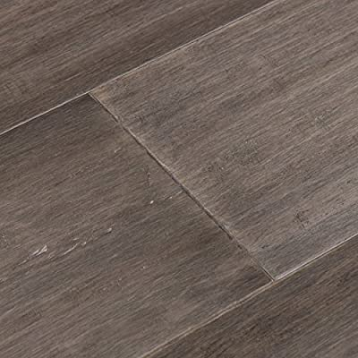 Cali Bamboo - Extra Wide T&G Engineered Flooring, Boardwalk Gray, Hand Scraped - Sample