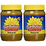 SunButter Natural Sunflower Seed Spread - 16oz (2-Pack)