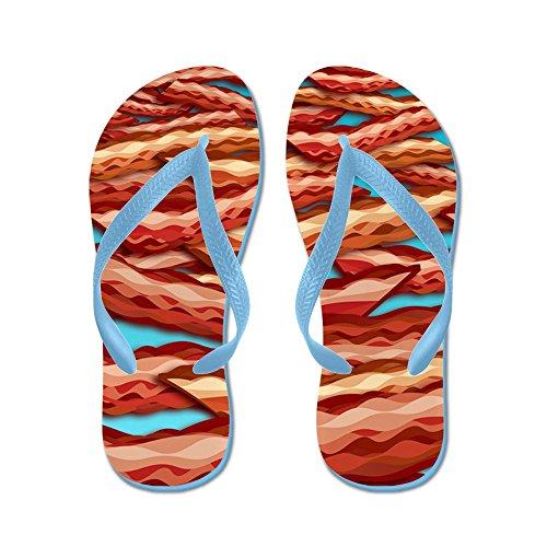 CafePress Bacon - Flip Flops, Funny Thong Sandals, Beach Sandals Caribbean Blue