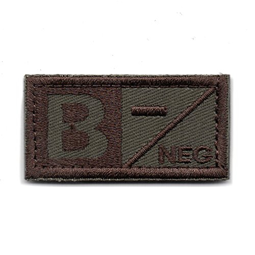 Tactical Patch NEG Blood Type Brown (B-)