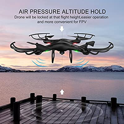 AMZtronics Drone with Camera, A15W 2.4Ghz Wireless FPV RC Quadcopter Drone with Altitude Hold Function, 3D Flips, One-Key Taking Off/Landing, HD WiFi Camera(TF Card & Card Reader Included) from AMZtronics