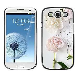 PC/Aluminum Funda Carcasa protectora para Samsung Galaxy S3 I9300 Composition Art Drawing White / JUSTGO PHONE PROTECTOR