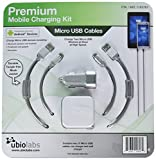 #3: Ubio Labs (2-pack) 6ft tangle-free Micro USB cable kit for Android, Samsung, HTC, LG, Motorola. 6 foot long woven charge/sync cord with dual USB wall and car charger. 2.4A /4.8A (24W)