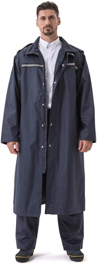 Veste Longue dext/érieur en Poncho Siamois /épais pour Homme et Femme Couleur : Orange, Taille : XL imperm/éable Duanguoyan Imperm/éable