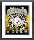"Pittsburgh Steelers All Time Greats Photo (Size: 12.5"" x 15.5"") Framed"