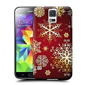 Beautiful snowflake pattern Hard Cover for samsung galaxy s5 cases Unique samsung Case wangjiang maoyi