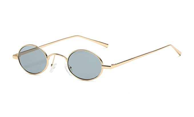 01c392b0b3 Image Unavailable. FEISEDY Vintage Small Round Sunglasses Retro Slender  Metal Frame Candy Colors B2422