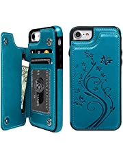 Promixc iPhone 7 Case, iPhone 8 Wallet Case with Card Holder