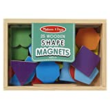 Melissa & Doug 19277 25 Wooden Shape and Colour Magnets in a Box
