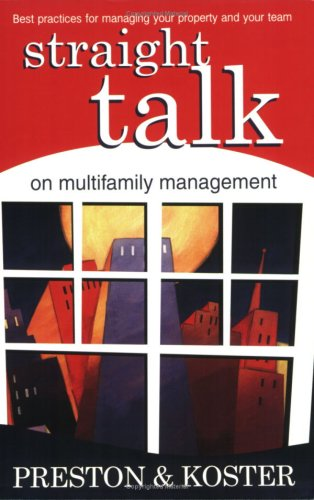 Download Straight Talk on Multifamily Management PDF