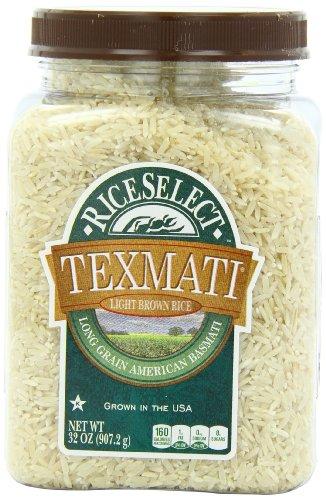 UPC 074401510413, RiceSelect Texmati Light Brown Rice, Long Grain American Basmati, 32-Ounce Jars (Pack of 4)