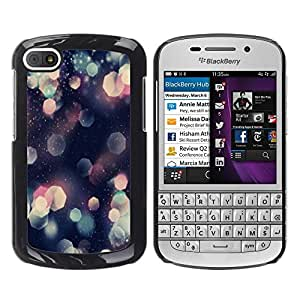 [Neutron-Star] Snap-on Series Teléfono Carcasa Funda Case Caso para BlackBerry Q10 [Patrón del brillo del hexágono brillante rosa del arte]
