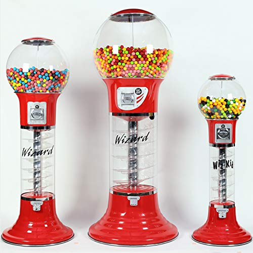 Giant Wizard Spiral Gumballs Vending Machine Height 5'6'' - $0.25 - for Gumballs (Red) by Global Gumball (Image #8)