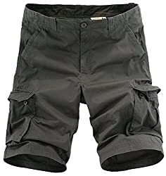 KIWEN® Men's Muti-Pocket Cargo Shorts Large Size(Green,30 size)