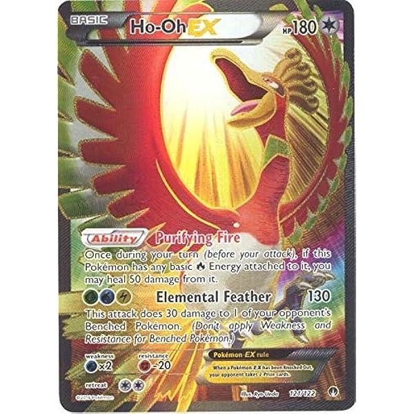 121//122 Ho-Oh EX Full Art Ultra Rare PL Pokemon XY Breakpoint
