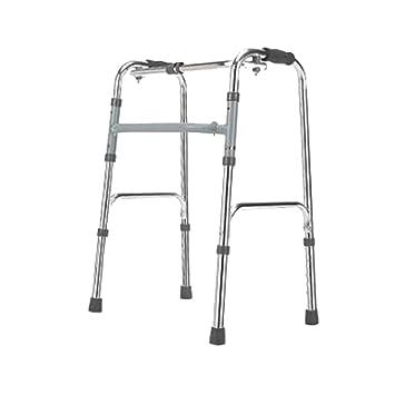 Walker Ligero Andador Plegable Polea de Muleta Ajustable de Cuatro ...
