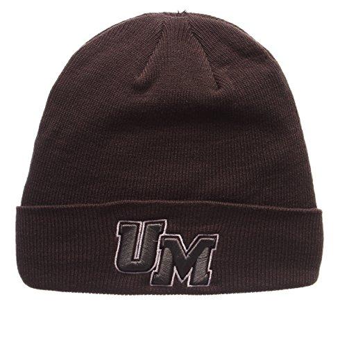 ZHATS UMass Minutemen Charcoal Gray X-RAY POP Cuff Beanie Hat - NCAA Cuffed Winter Knit Toque Cap