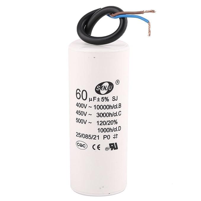Aire acondicionado AC 450 V 60 uf 50/60 hz CBB60 de condensador de Motor