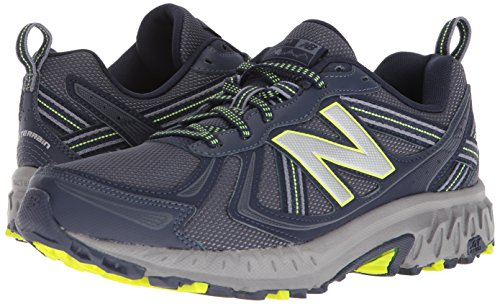 New Balance Men's MT410v5 Cushioning Trail Running Shoe, Navy/Yelow, 7.5 D US by New Balance (Image #6)