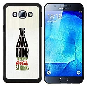 Stuss Case / Funda Carcasa protectora - Grande Drink Bottle Soda Pop Calligrafia - Samsung Galaxy A8 A8000