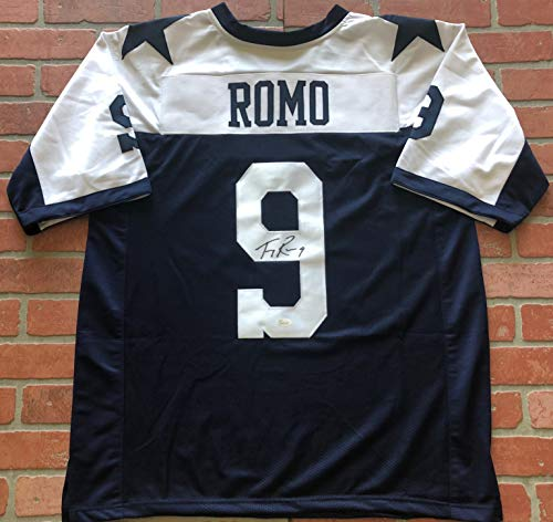 - Tony Romo autographed signed jersey NFL Dallas Cowboys JSA w/COA