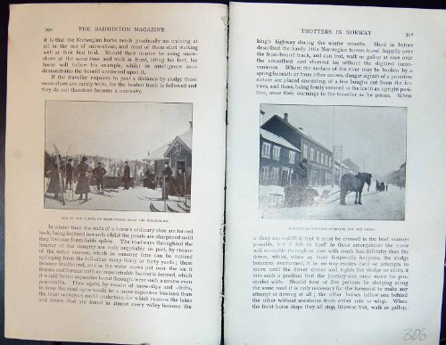 Badminton Magazine 1901 Horses Trotters Norway Snow-Shoes Farmers Snow Sledge