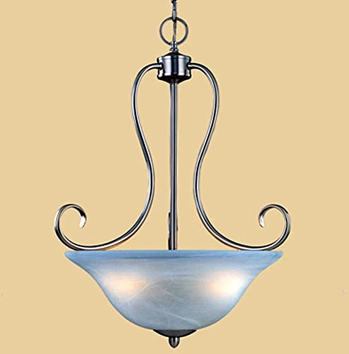 Main Street 3 Light Pendant Finish Satin Nickel