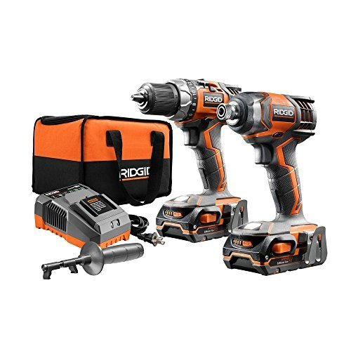 RIDGID X4 18-Volt Lithium-Ion Cordless Drill and Impact Driver Combo Kit (2-Tool) (Tool Ridgid Set Power Cordless)