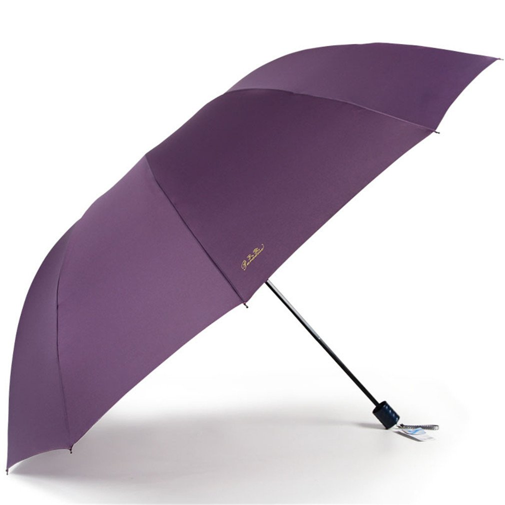 Guoke One Umbrella Male And Large Female Students Fold Reinforcement Two Umbrellas, With Fine Purple - 130