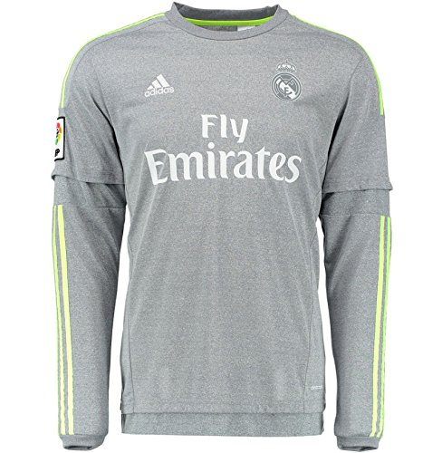 Adidas Real Madrid CF Away Youth Long Sleeve Jersey-GREY (L) ()