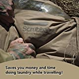Scrubba Tactical Portable Wash Bag & Dry Kit - Hand Washing System for Outdoors & Travel - Light & Small Camping Laundry Set to Wash Clothes Anywhere