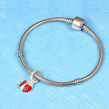 lady bug charm initial charm bracelet little girl jewelry ladybug charm bracelet Little Girl bracelet ladybug charm bracelet