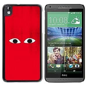 Be Good Phone Accessory // Dura Cáscara cubierta Protectora Caso Carcasa Funda de Protección para HTC DESIRE 816 // Red Character Cartoon Minimalist Monster