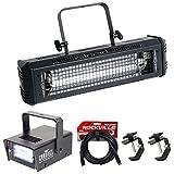 American DJ Mega Flash DMX 800W Compact Strobe Light+Mini Strobe+2) Clamps+Cable