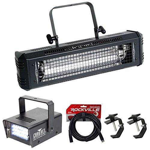 sh DMX 800W Compact Strobe Light+Mini Strobe+2) Clamps+Cable (Dmx 800 Watt Strobe Light)