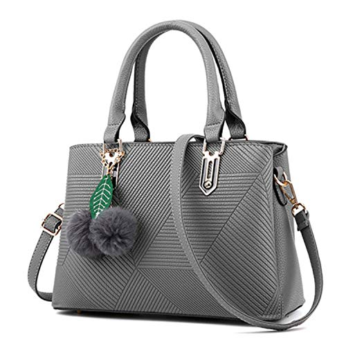 Bags Women Leather Handbags Hand Bag Purse Shoulder Bags,gray