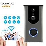 WiFi Video Doorbell,Battery Powered HD Wireless Smart Door Bell,720P HD Camera,Phone Wake Up Camera,Real-Time Video Speaker System,Motion Detection,Cloud Storage,Night Vision,WiFi 2.4GHz Connect