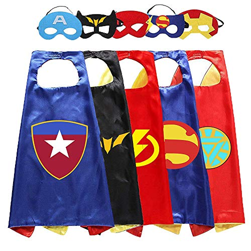Aodai Halloween Costumes and Dress up for kids - Kids Costume Cape and Mask(5 Pcs)]()
