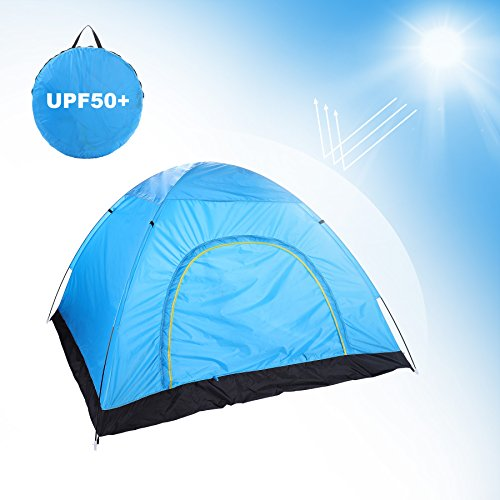 Man 3 Season Ultralight Tent - Pinty Pop up Lightweight Camping Tent for 2-3 Person, Zip Up Backpacking Instant Tent for 3 Person, 3 Season Foldable Shelter for Outdoor Hiking Biking, Portable Family Beach Tent for Spring Summer
