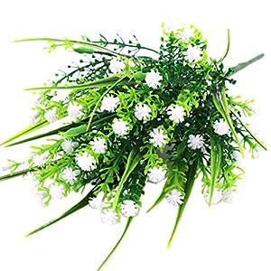 Fityle 4pcs Plastic Artificial Baby'S Breath Flower Arrangement Grass Gypsophila Flower Wedding Floral Decor 3