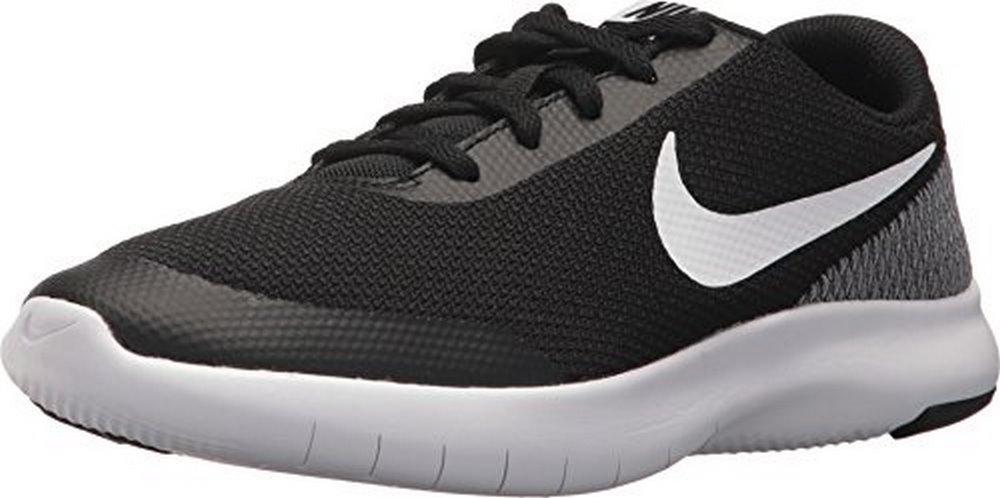 Nike Boys Flex Experience RN 7 (GS), Black/White-White, 3.5Y M US