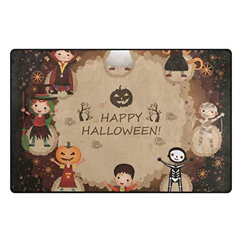 Koperororo Halloween Pumpkin Dance Doormats Area Rug Rugs Non-Slip Floor Mat Indoor Outdoor 16 X 24 inch -